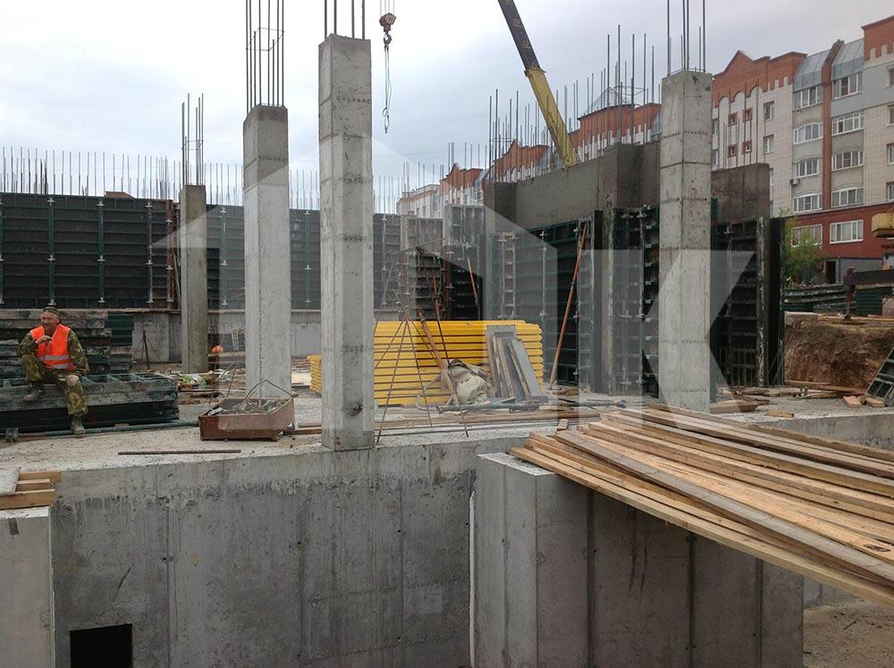 Опалубка на строительстве в Кстово